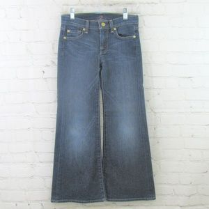Girls 7 For All Mankind wide leg jeans